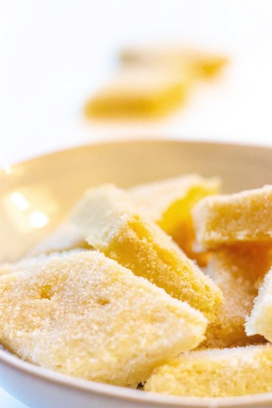 Shortbread mit Zitrone