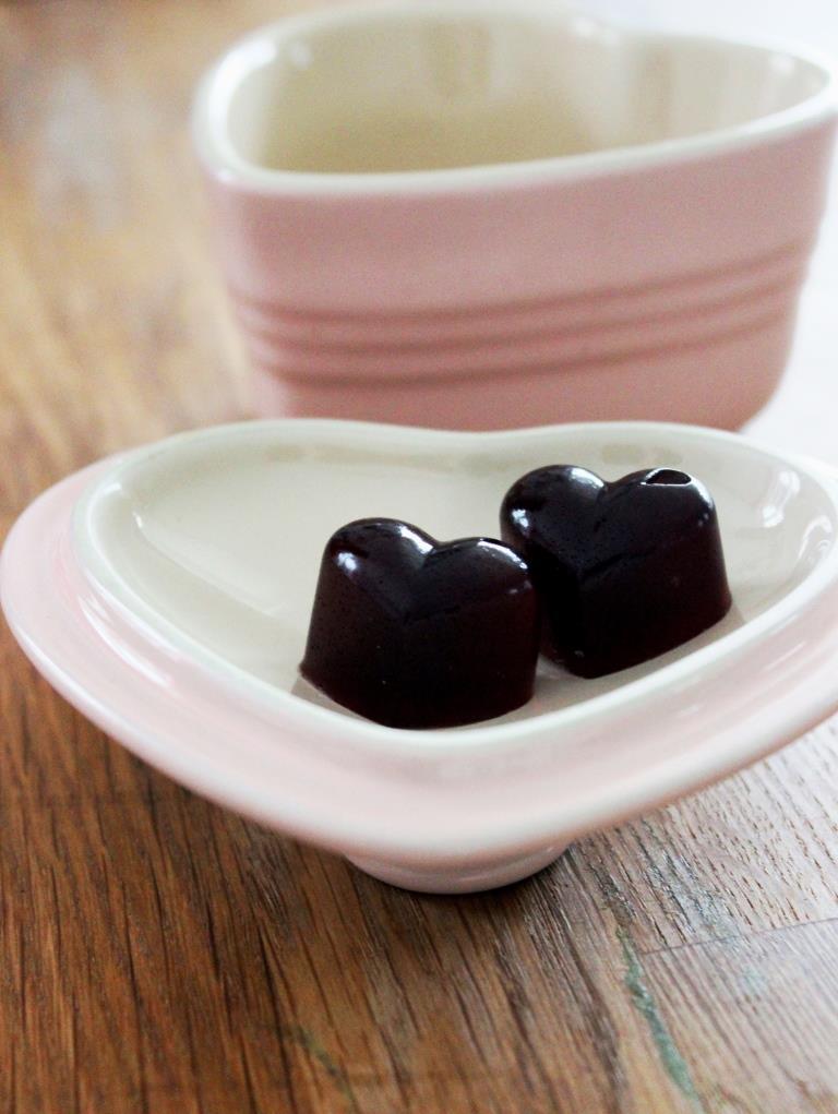 Küchenkränzchen Fruchtgummi Herzen Kirsche