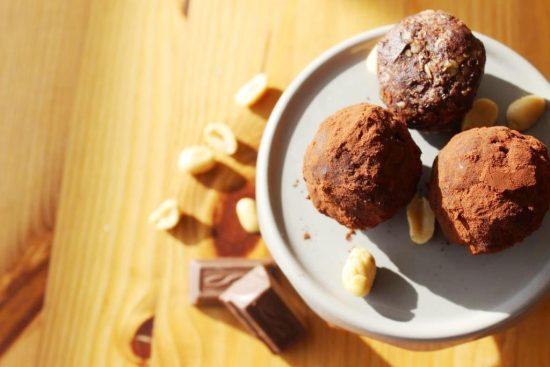 Energy Balls Erdnuss Schokolade