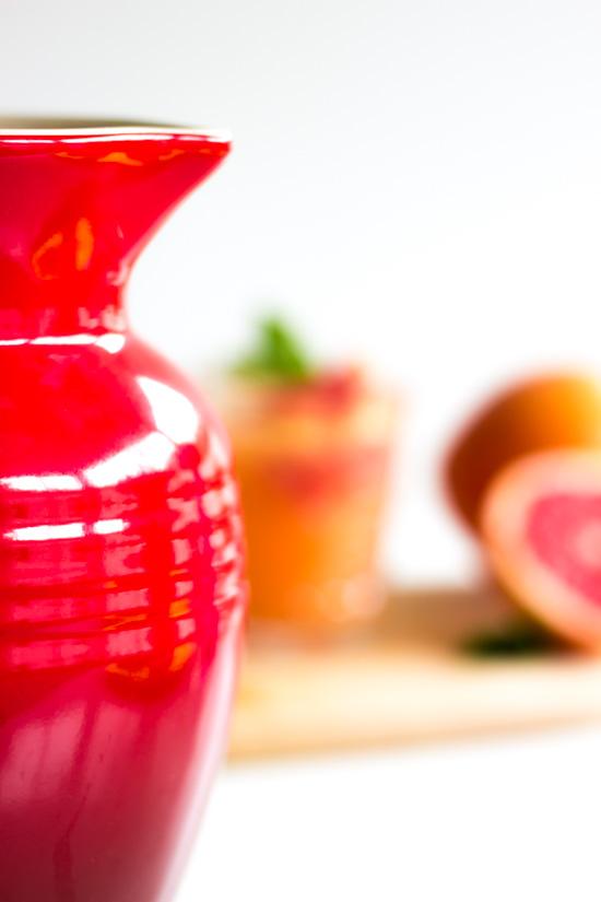 Grapefruit Limonade mit Minze