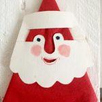 Tischdeko zu Weihnachten: Servietten Weihnachtsmänner