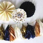 DIY Tassel-Girlande aus Seidenpapier