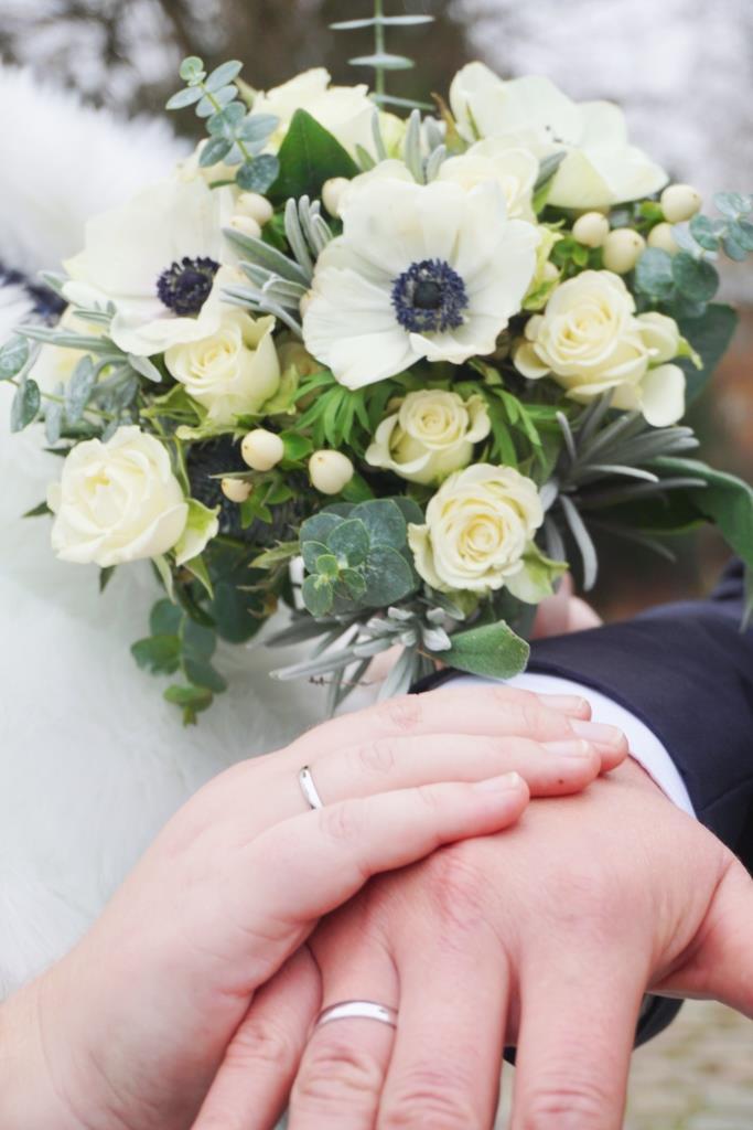 Kuechenkraenzchen Brautstrauss Winter