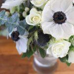 Winterlicher Brautstrauß I Weiss und Greenery