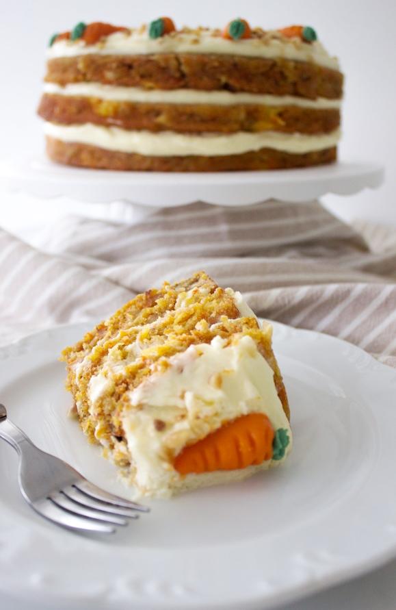 Möhrenkuchen I Carrot Cake mit Frischkäse Frosting