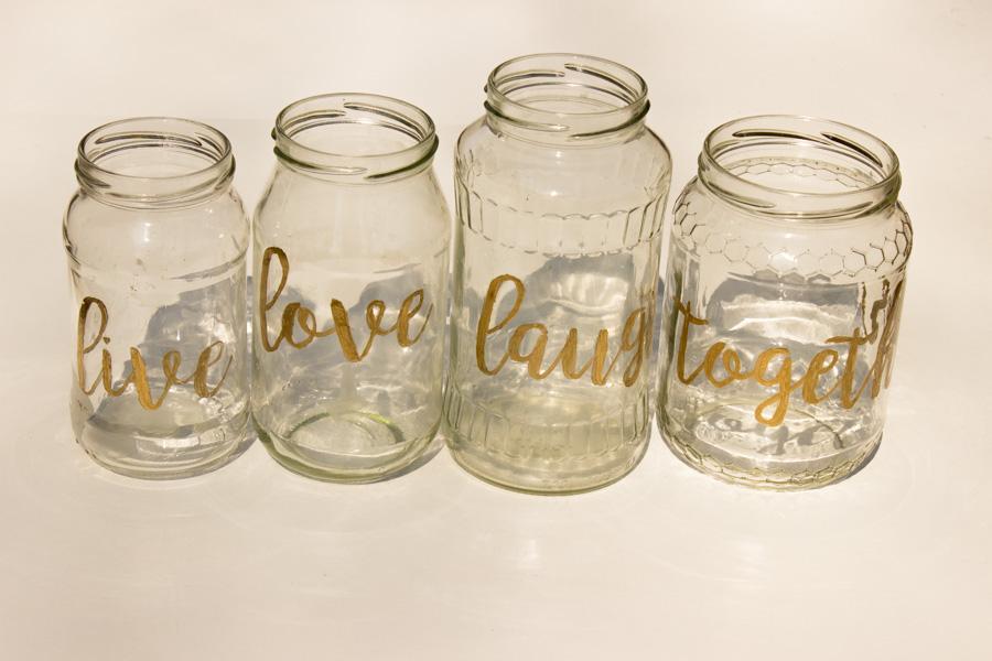 Küchenkränzchen DIY Vasen gold