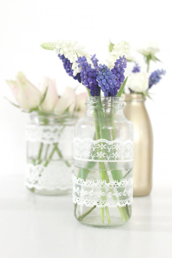 DIY Vase mit Spitze