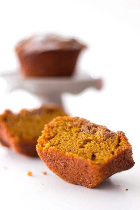 Kürbis Muffins mit Zimt Streuseln