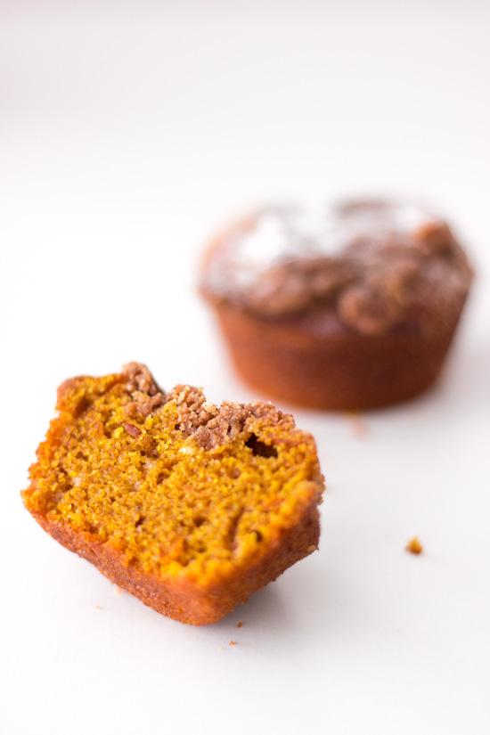 Küchenkränzchen Kürbis Muffins mit Zimt-Streuseln