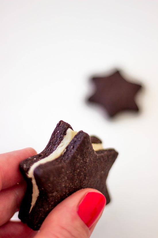 Gefüllte Schokoladen-Sterne / Selbstgemachte Oreos