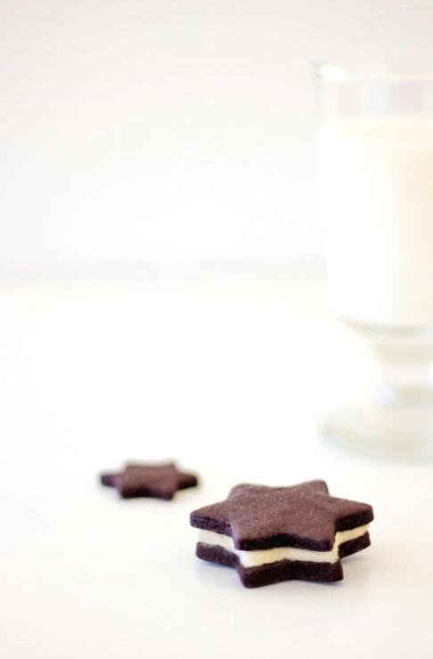 Gefüllte Schokoladensterne