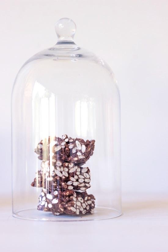 Schokoladen Puffreis wie Nippon